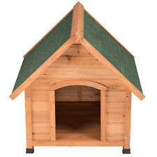 Hundehütte Hundehaus Hund Echtholz Holz Massiv Wetterfest Dachluke Spitzdach