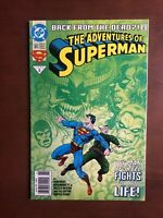 Adventures of Superman #500 (1993) 9.2 NM DC Key Issue Comic Book Back From Dead