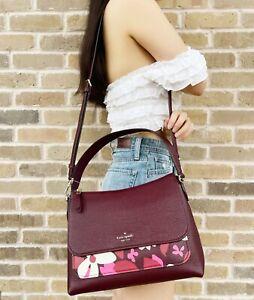 Kate Spade Melody Forest Floral Medium Flap Shoulder Bag Crossbody Pink Multi