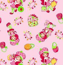 Fat Quarter Strawberry Shortcake Shopping Cotton Quilting Fabric - SPX