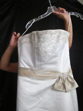 Strapless A-Line Maggie Sottero Heather Wedding Gown Dress sz 12