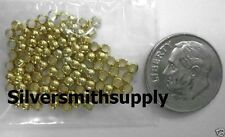 14kt Gold plated steel spacer or crimps 2.5x2mm round crimp beads 100 pcs fps033