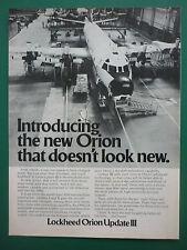 10/1978 PUB LOCKHEED P-3C ORION UPDATE III ASW MARITIME PATROL AIRCRAFT AD