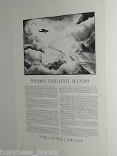 1929 FORD TRI-MOTOR advertisement, Ford Tri Motor airplane, early air travel