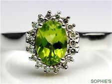 Peridot White Gold 18k Engagement Rings