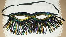 Adult Costume Party Sequined Handmade Half Face Covering