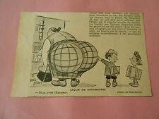 Lecon de Géographie Et ca c'est l'équateur Fesse de la dame Humour Print 1933