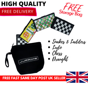 Traditional Classic Mini Magnetic Travel Board Games Set of 4 with FREE Bag UK