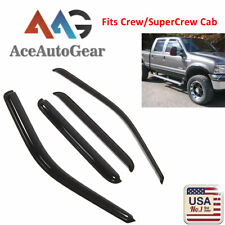 AAG Window Visor Guard For 1999-2016 Ford F-250 SuperCrew Crew Cab Out-Channel