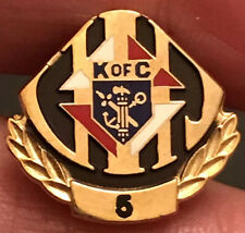 Vintage Knights Of Columbus 5 Year Enamel And Gold Tone Lapel Pin