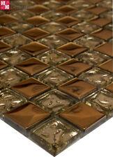 Mosaïque en verre carrelage de Carreaux Mosaique bronze gold1m ²