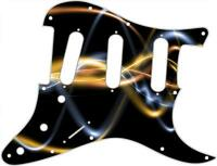 Stratocaster Pickguard Custom Fender SSS 11 Hole Guitar Pick Guard Abstract 9