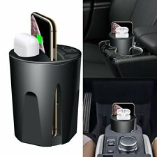 Car Cup Qi Wireless Fast Charger 4IN1 Charging Headset Storage Box