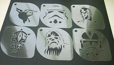 Set of 6pcs Star Wars Yoda Sandtrooper C-3PO Darth Maul Chewbacca Clone Stencil