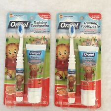 Orajel Training Toothpaste and Brush Lot of 2 Daniel Tigers Neighborhood*Expired