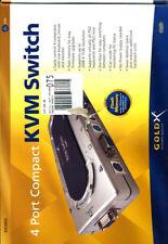 GoldX 4-port Compact KVM Switch