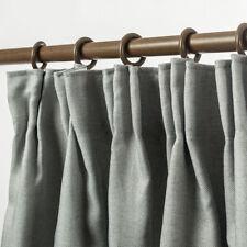 Linen Pinch Pleat Curtain Textured Blackout Curtain Drapes Room Darkening