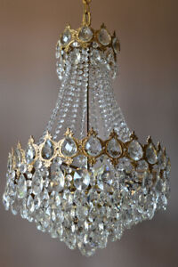 Antique Vintage Crystal Chandelier, Home Interior, Ceiling French Lighting  lamp