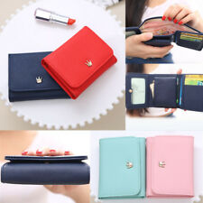 New Women Crown PU Leather Coin Card Holder Mini Bifold Purse Wallets