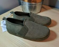 New Toddler Boys Old Navy Green Faux Suede Slip On Shoes 9 10