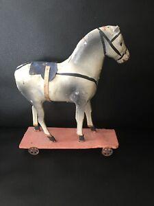 Antique Vintage German Platform Horse