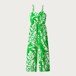 LILLY PULITZER for Target ~ Green & White Palm BOOM BOOM JUMPSUIT Sz XS NWT