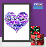 Personalised NEW HOME WORD ART print - perfect Moving in gift/new house A4/A3