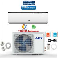 12000 BTU Mini Split Air conditioning, Heat Pump w Installation Kit 12ft 17 SEER