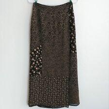 J.Jill Black Cream Long Skirt sz 4