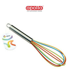 Apollo Egg Whisk 26CM Coloured Kitchen Silicone Wire Splash Sauce Large Mixture