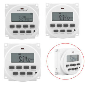 12V/220V Auto LCD Digital Electric Programmable Relay Control Timer Switches