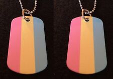 Pansexual Gay / Lesbian Pride 2-Sided Color Photo Dog Tag Necklace / Keychain