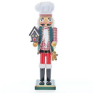 """15"""" Chef With Gingerbread House Nutcracker w"""