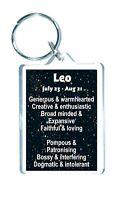 Leo Star Sign Keyring  - Zodiac Horoscope Astrology - Novelty Gift Present