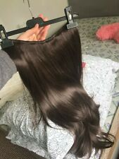 Clip In Chocolate Brown Straight Flicky 24'' Synthetic Hair Extensions One Piece