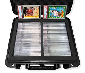 Graded Card Storage Box for BGS PSA SGC Medium Travel Size Waterproof Case Box