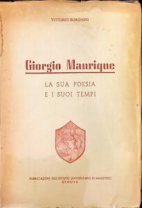 GIORGIO MANRIQUE - VITTORIO BORGHINI