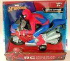 MARVEL SPIDER-MAN REMOTE CONTROL SPIDERMAN RC MOTORBIKE AGES 8+