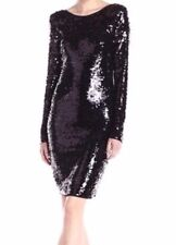 New with tag $338 BCBGMax Azria Kamila Sequin Long Sleeve Drop B1495 Dress Sz S