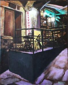 "Original Painting ""Siena Ristorante"", Acrylic on Canvas, 16""x20"", by C. Pecharka"
