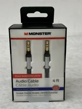 Case of 6 Monster Mobile 3.5mm Stereo Jack Male to Male 4ft Aux Audio Cables