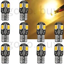 10 x Canbus T10 194 168 W5W 5730 8 LED SMD Warm White Car Side Wedge Light Bulb