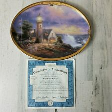 Lighthouse Cottage Collector Plate Thomas Kinkade Scenes Of Serenity 1995 Coa