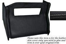 Gris Stitch Centro Consola Radio Envolvente De Cuero Skin Tapa se ajusta Mg Mgb 72-76