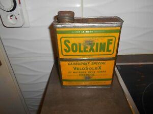 bidon huile  publicitaire solexine