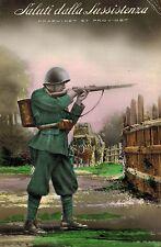 RPPC,Genoa,Italy,Saluti dalla Sussistenza,Soldier with Rifle,Used,Genoa,1930