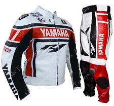 Yamaha Hommes Motard Combinaison Cuir Motogp Moto / Veste Cuir Moto Pantalon