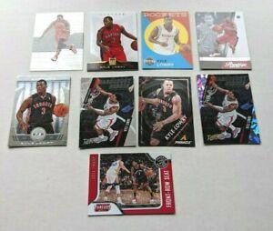 Kyle Lowry Raptors (9) Card Lot: Clear Vision, Momentum, Pinnacle, Prestige, P&P