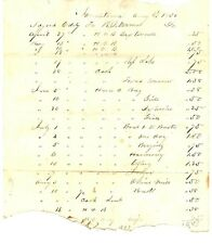 1852 Blacksmith Log Document of Sales and Prices