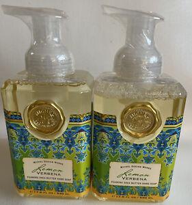2 Michel Design Works Lemon Verbena Foaming Shea Butter Hand Soaps 17.8 fl. ozs.